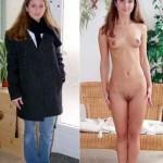 Myriam habillée et deshabillée possède une cam !