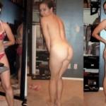 Jeune femme libertine qui se montre nue